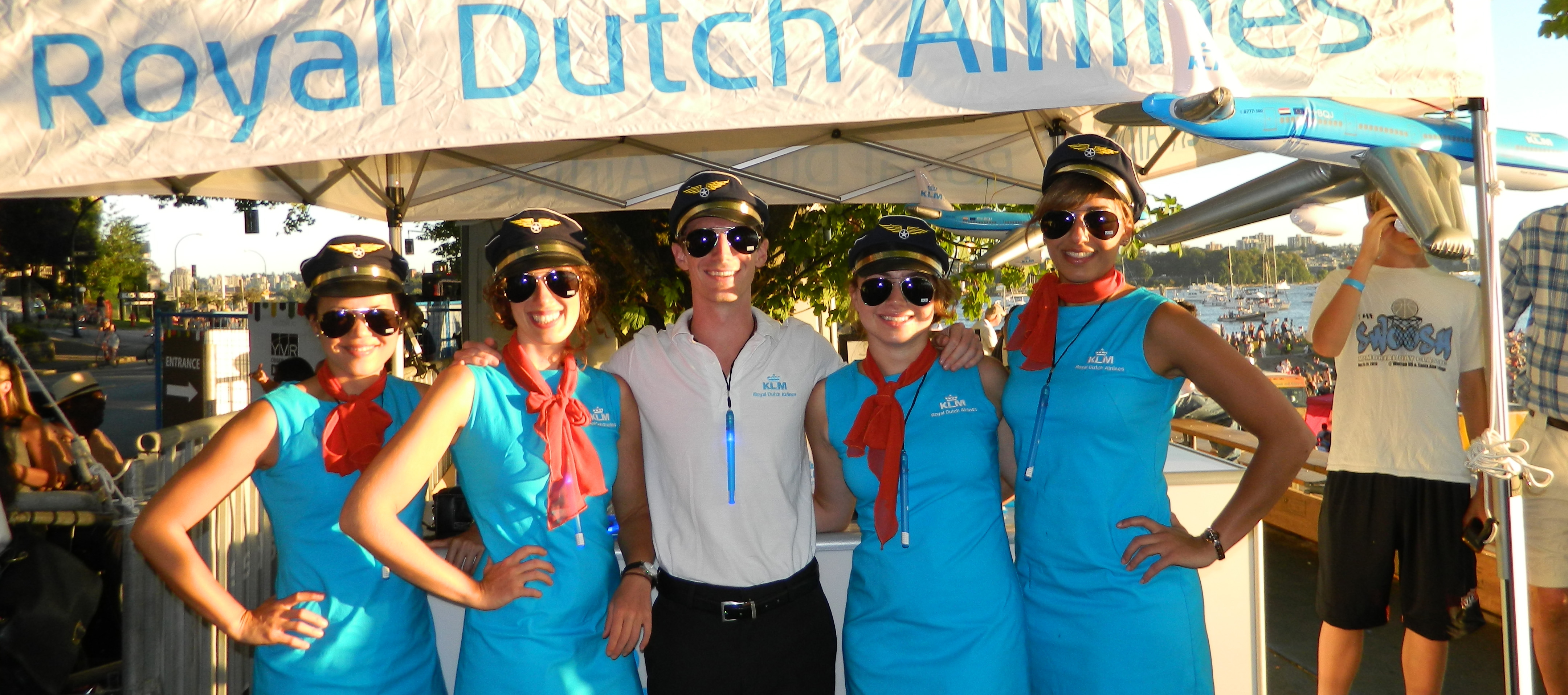KLM Salutes Team France At Vancouver's Celebration Of Light