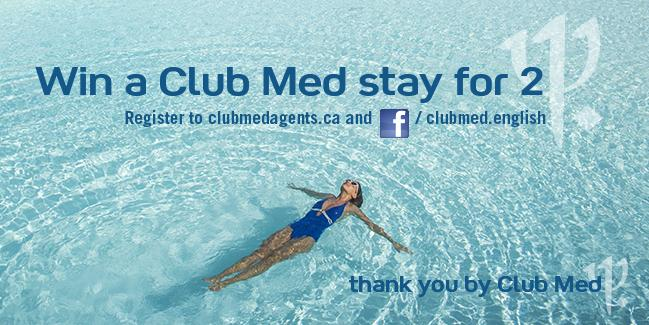 Club Med holding contest for agents through thank-you campaign