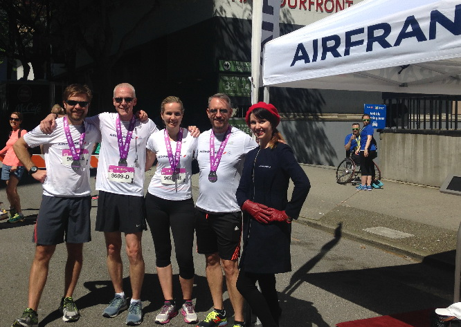 Air France supports Vancouver Marathon