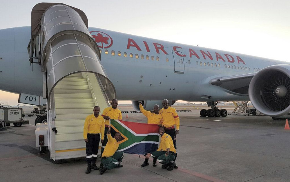 Air Canada brings South African firefighters to Alberta