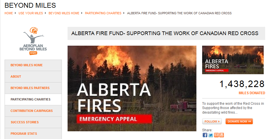 Aeroplan supports Alberta fire relief efforts