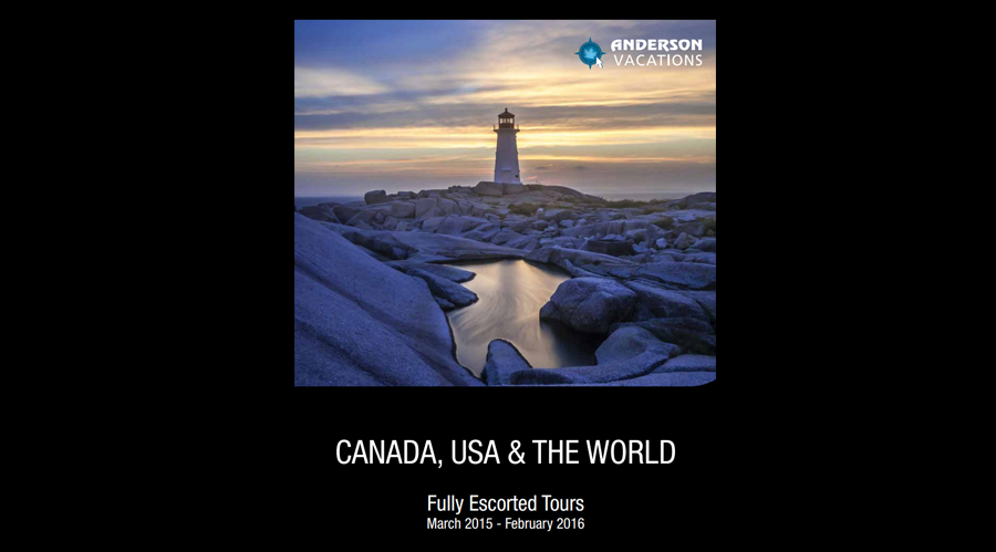Anderson Vacations releases 2015 Fully Escorted Tours brochure