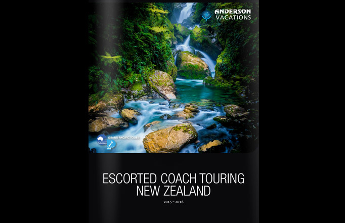 Anderson Vacations, GPT launch 2015-16 New Zealand brochure