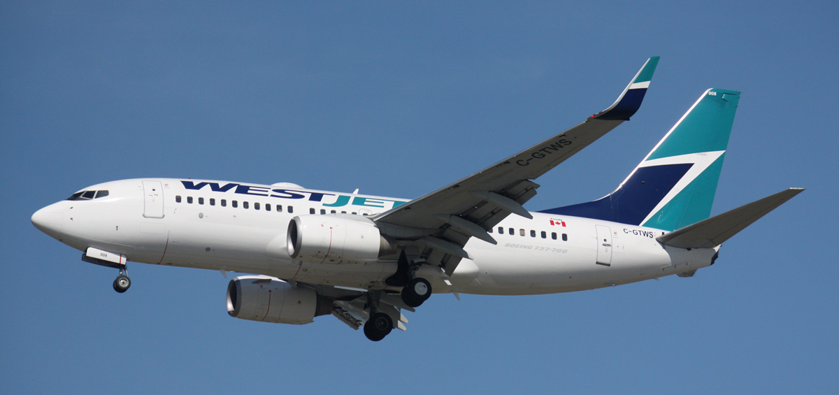 WestJet traffic up 7% for June