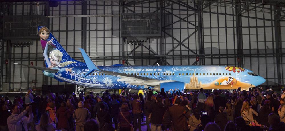 WestJet, Disney unveil a cool surprise