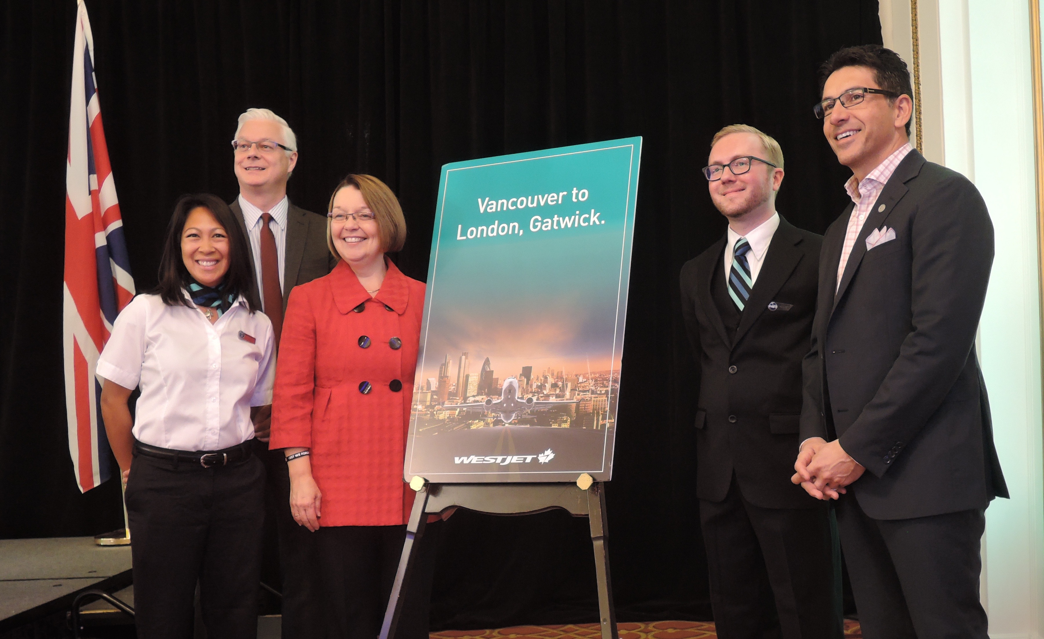 WestJet launches London service at YVR