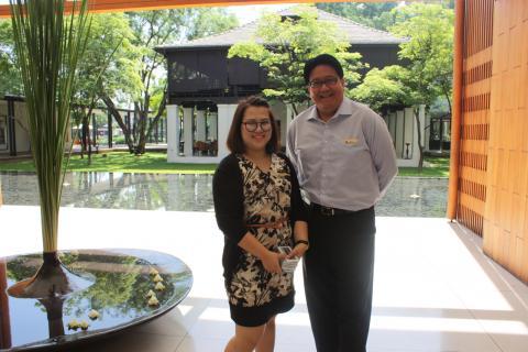 Of Anantara Chiang Mai Resort and Spa: Premhathai Boonchaliew, assistant sales manager & Syahreza Ishwara, general manager