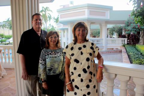 Of Marriott: Bill Countryman, GM; Jackie Garces, event manager; Sally Halm, director of sales.