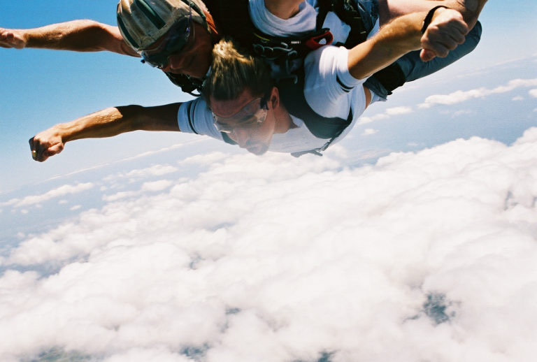 Skydiving in Hawaii. Photo: Colin Price