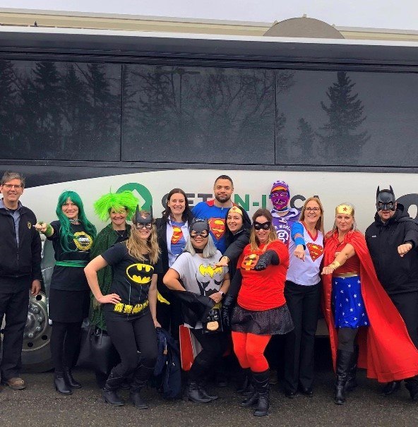 Jodine Clement and a few of her fellow Western Canada sales managers getting in the Halloween spirit (photo courtesy of Jodine Clement)