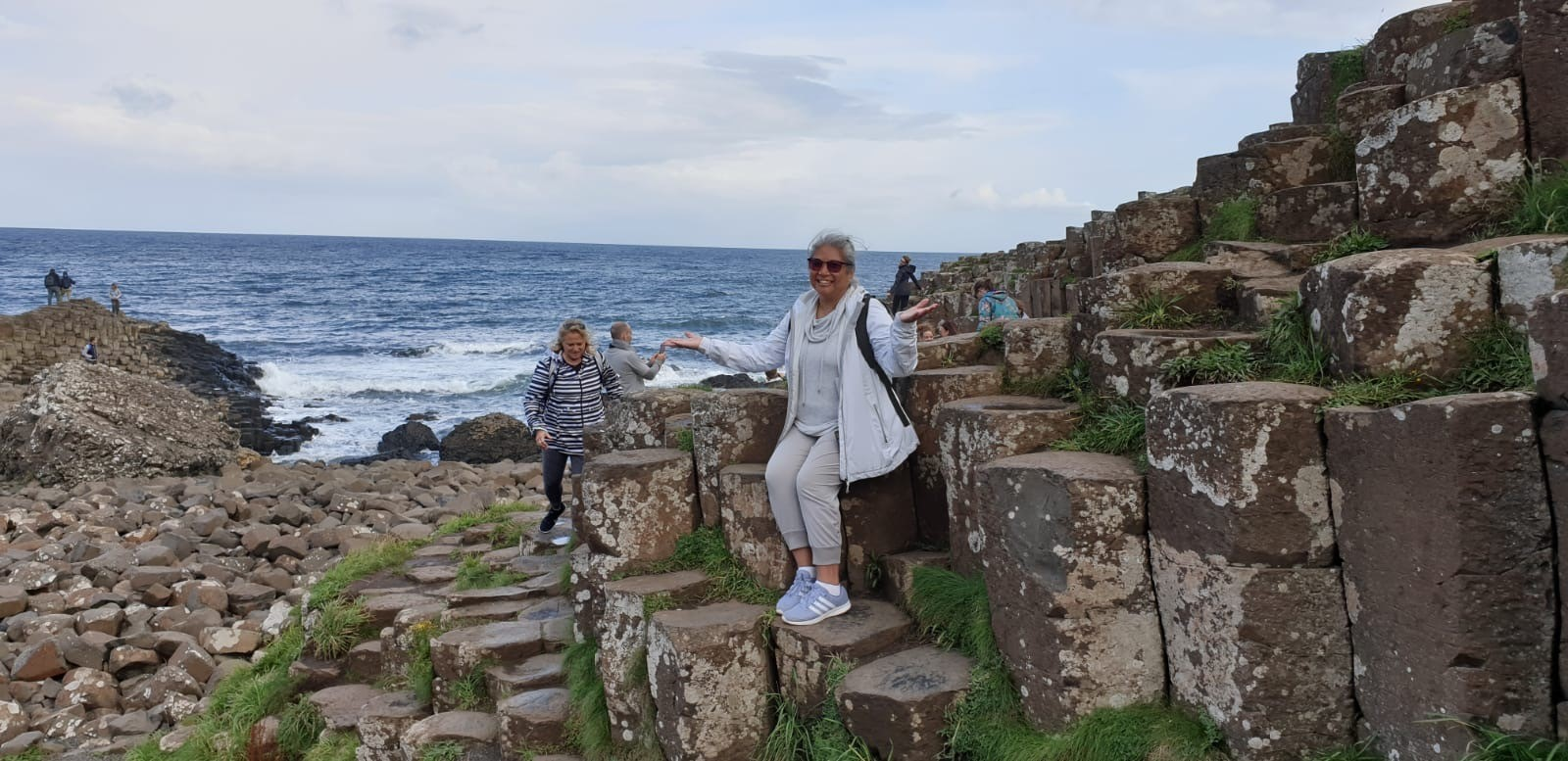 Exploring Giant's Causeway in Northern Ireland (photo courtesy of Jodine Clement)