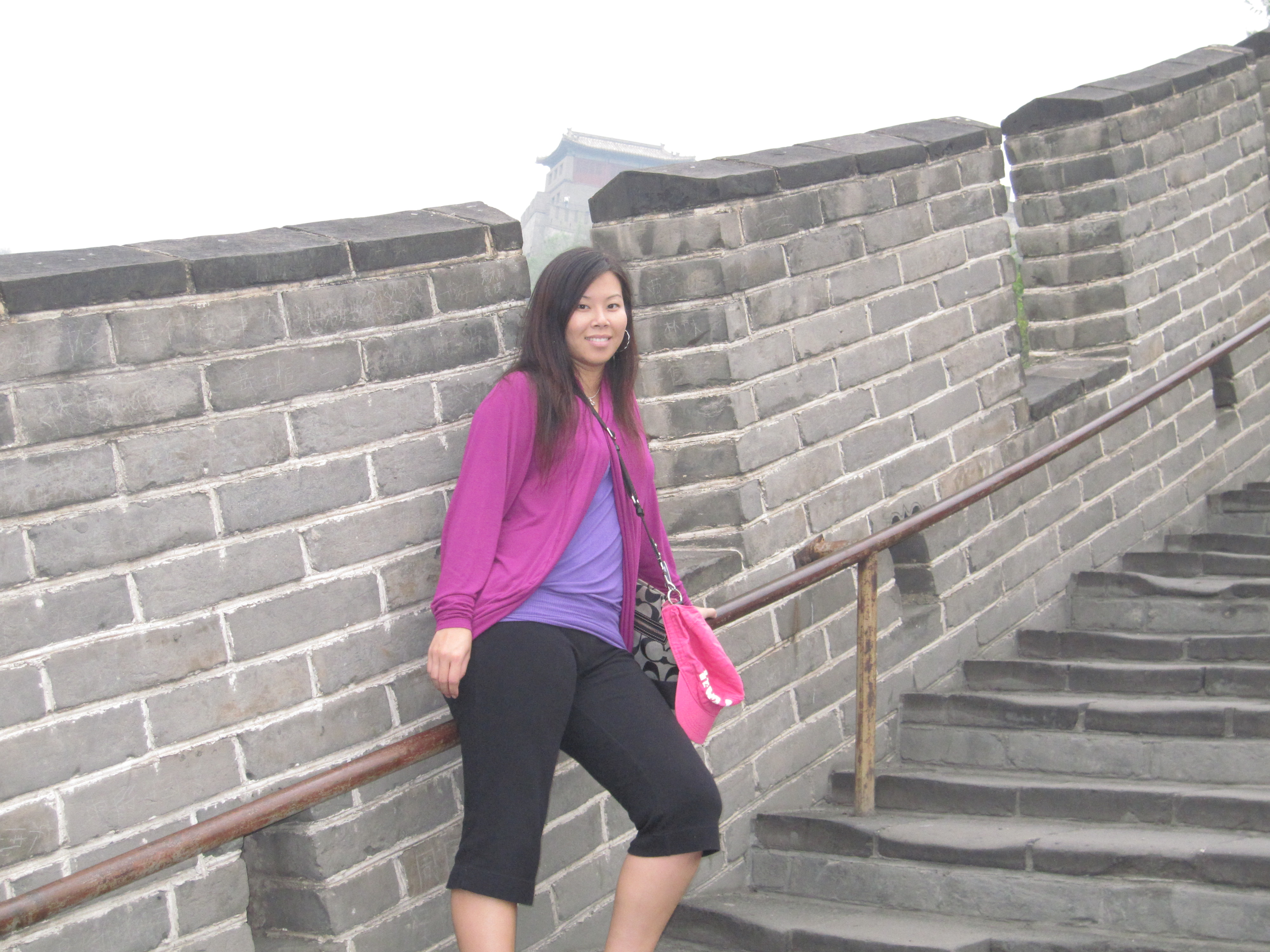 Climbing the Great Wall in Beijing (photo courtesy of Cindy Chau)