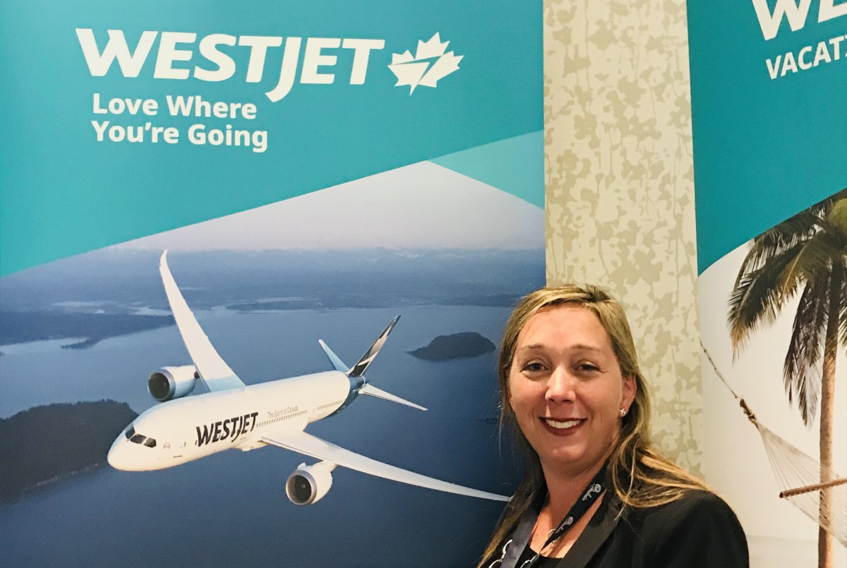 Madeleine Brydon, product manager with WestJet Vacations' Calgary branch.