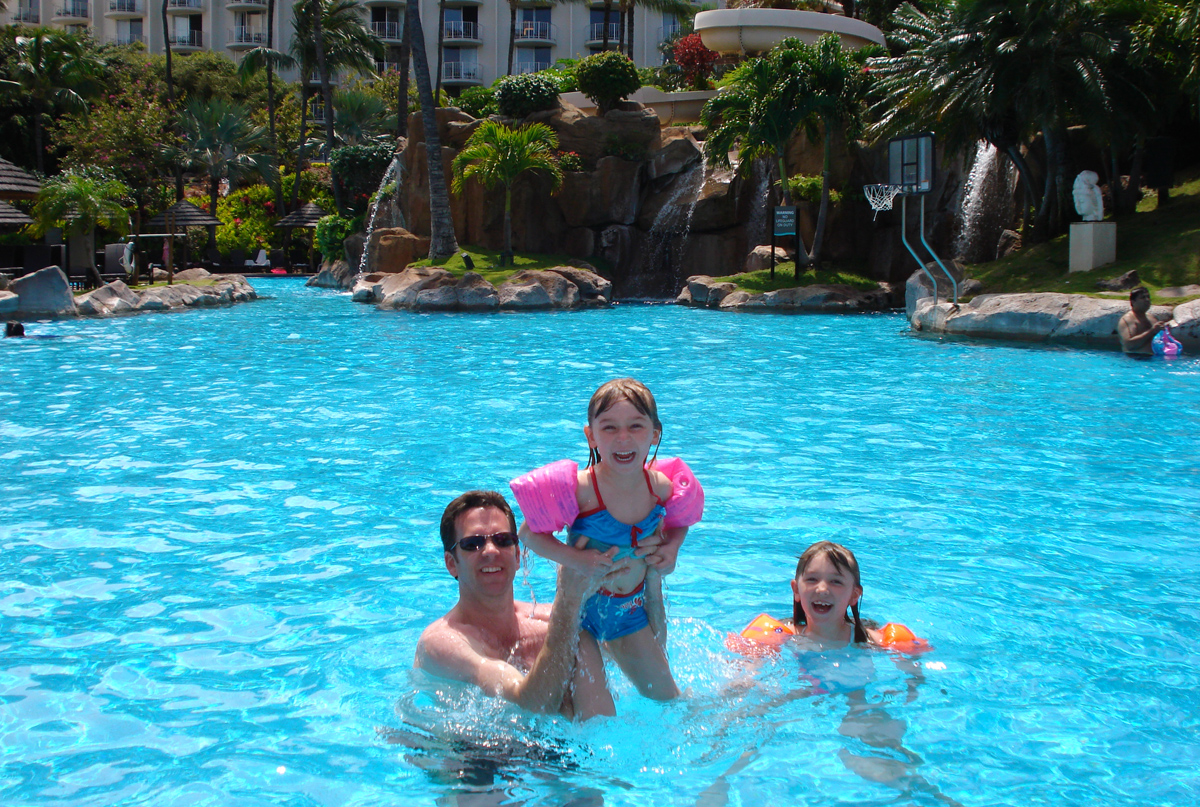 Family time in the pool at Maui (photo courtesy of Bruce Lidberg)