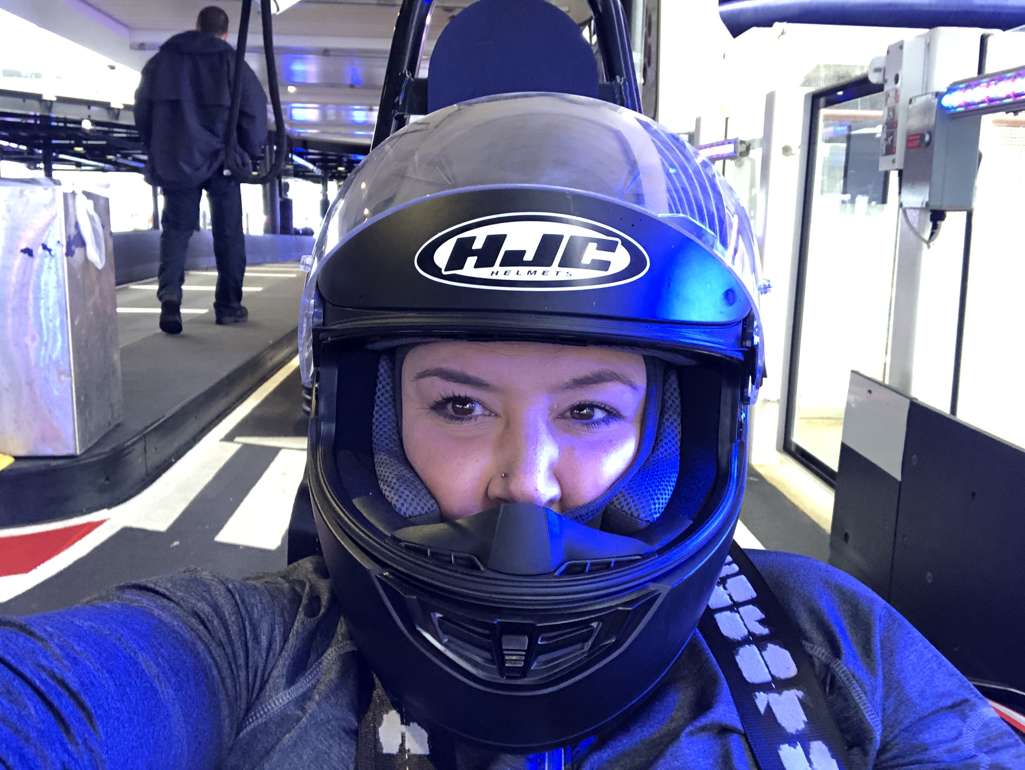Go-kart racing on the Norwegian Joy (photo courtesy of Afra Davis)