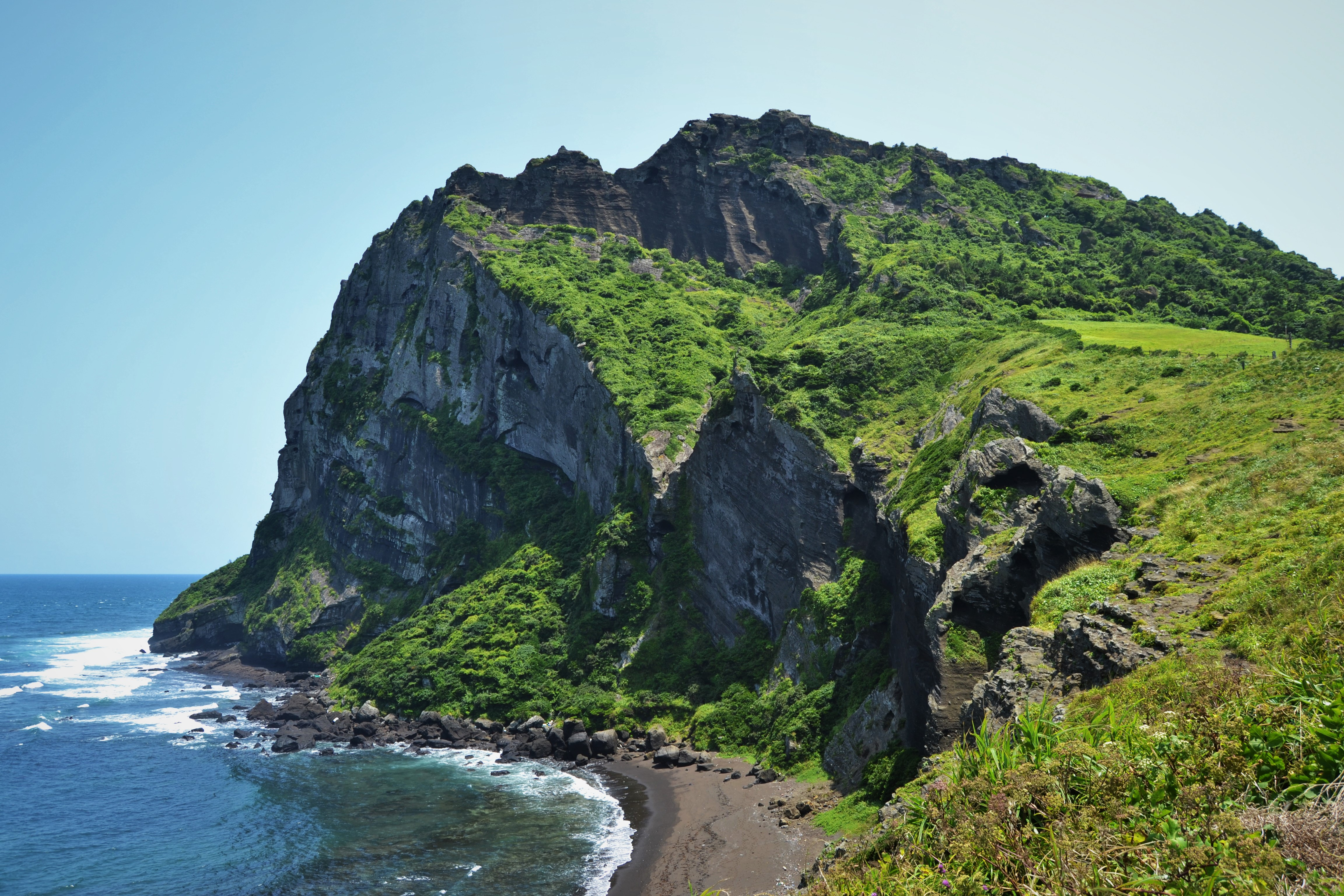 Seongsan Ilchubong, one of Jeju Island's most-known features and a UNESCO World Heritage site.