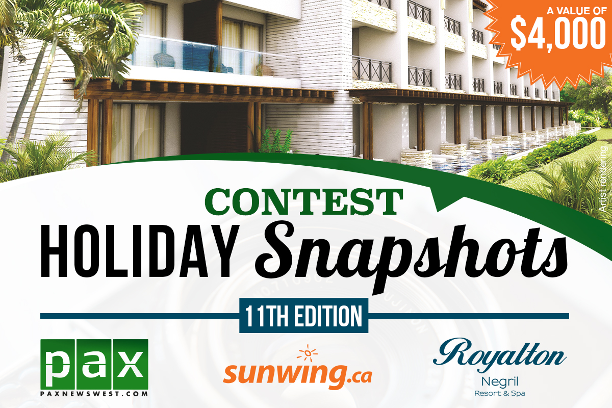 Win a $4,000 Royalton getaway in the 2016 Holiday Snapshots contest
