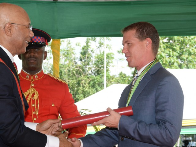 Sandals' Adam Stewart honoured for contributions to Jamaica's tourism industry