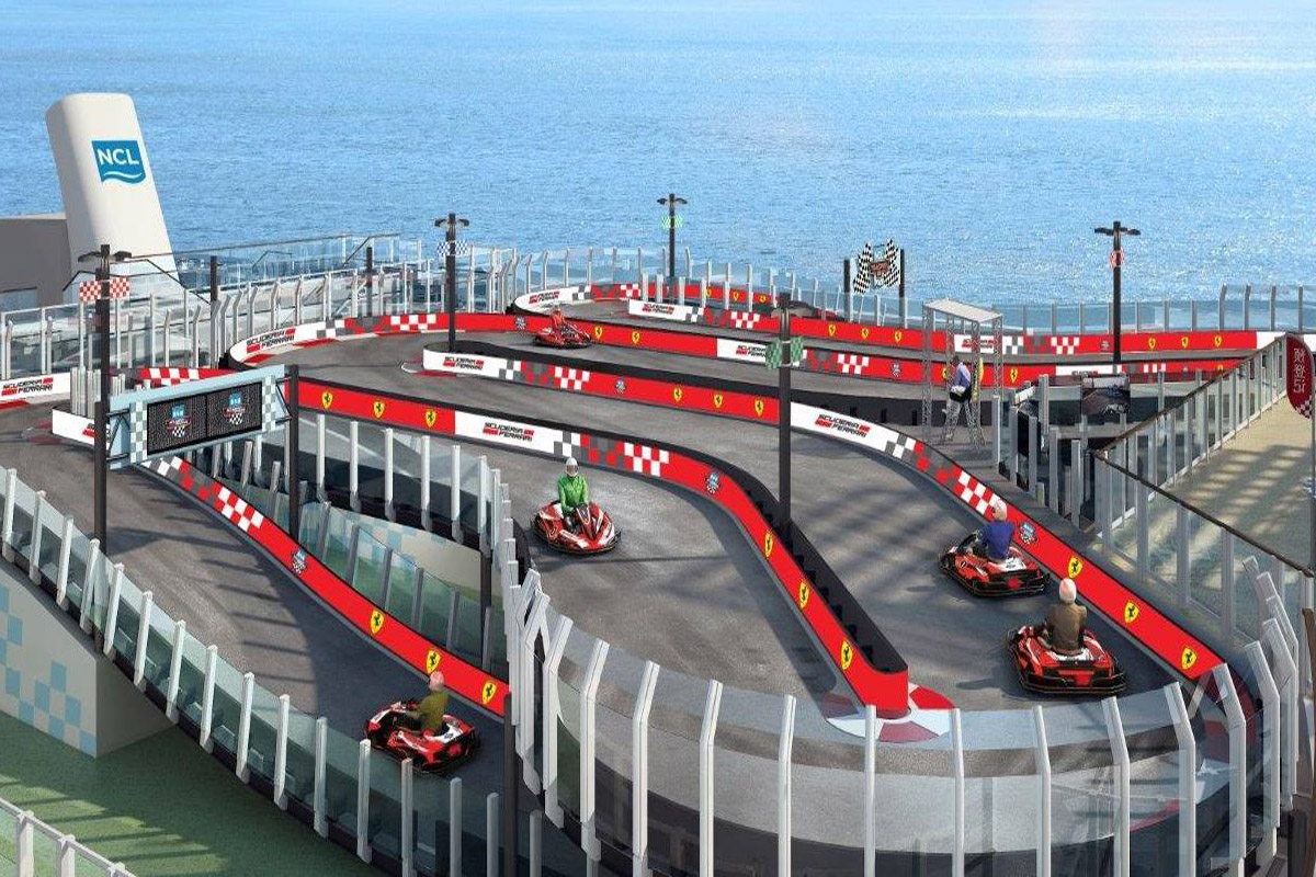Norwegian Joy to feature Ferrari-branded race track