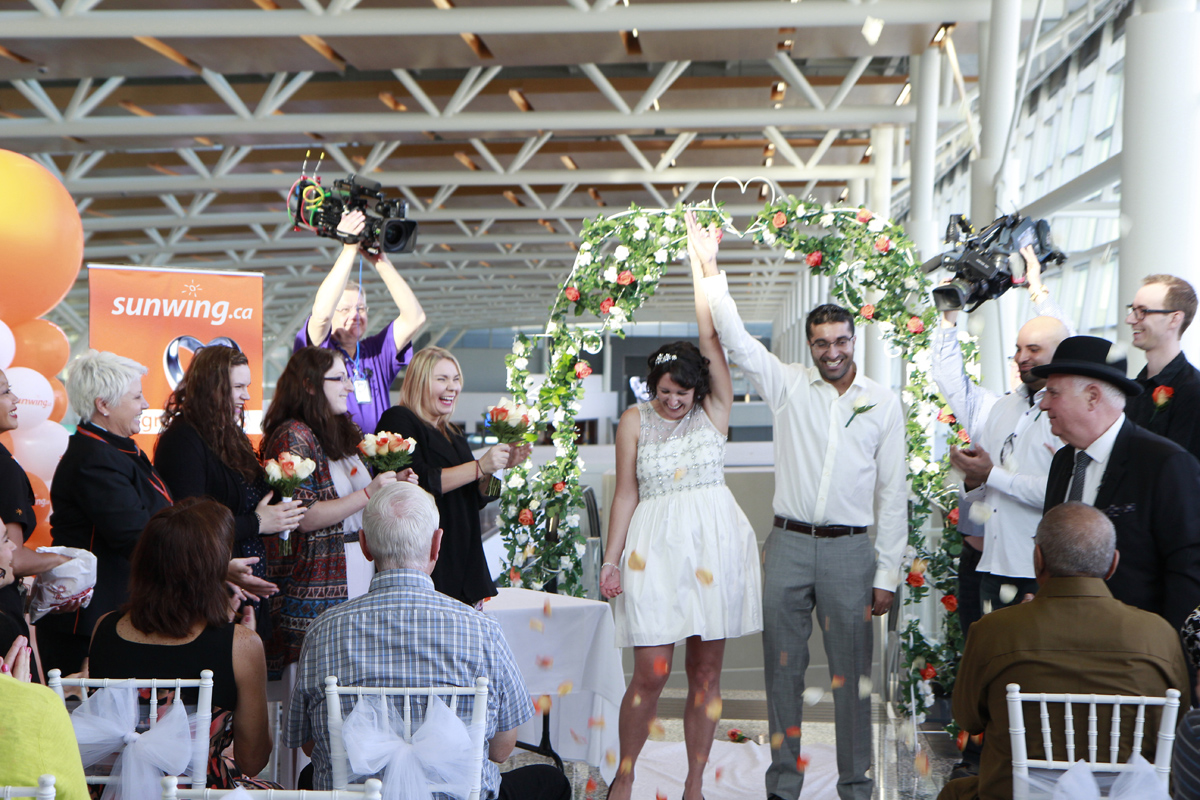 Calgary couple tie the knot at YYC