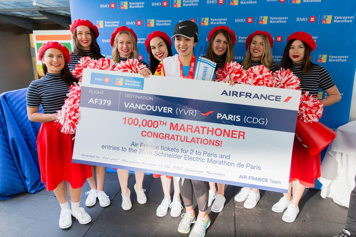 Air France celebrates Vancouver Marathon's 100,000th participant