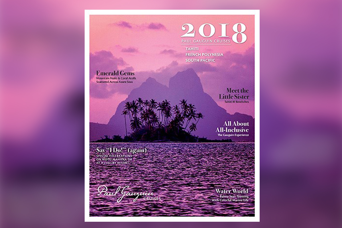 Paul Gauguin Cruises unveils 2018 brochure