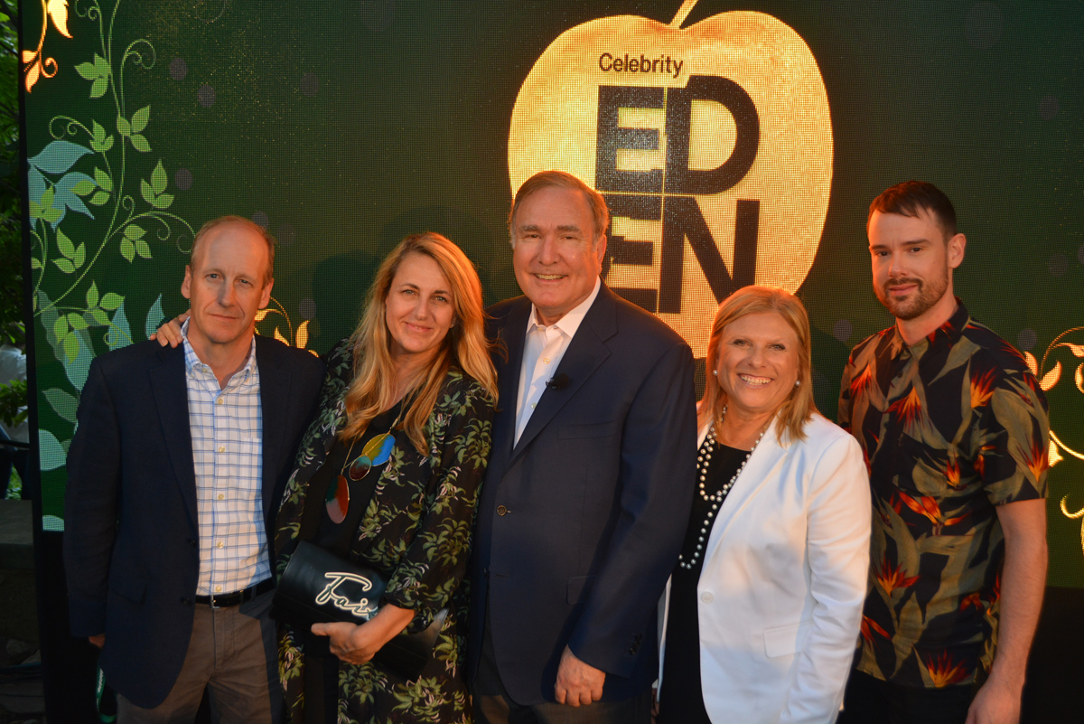 Celebrity takes VIPs on a tour of Eden