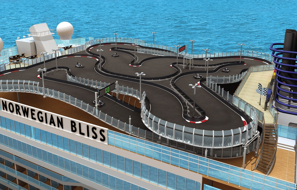 NCL's Bliss boasts a race track, laser tag and much more