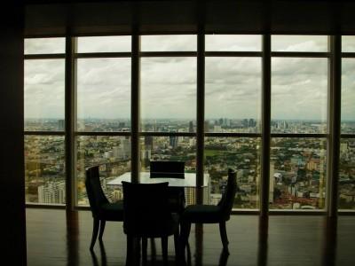 Hotel room looking over Bangkok