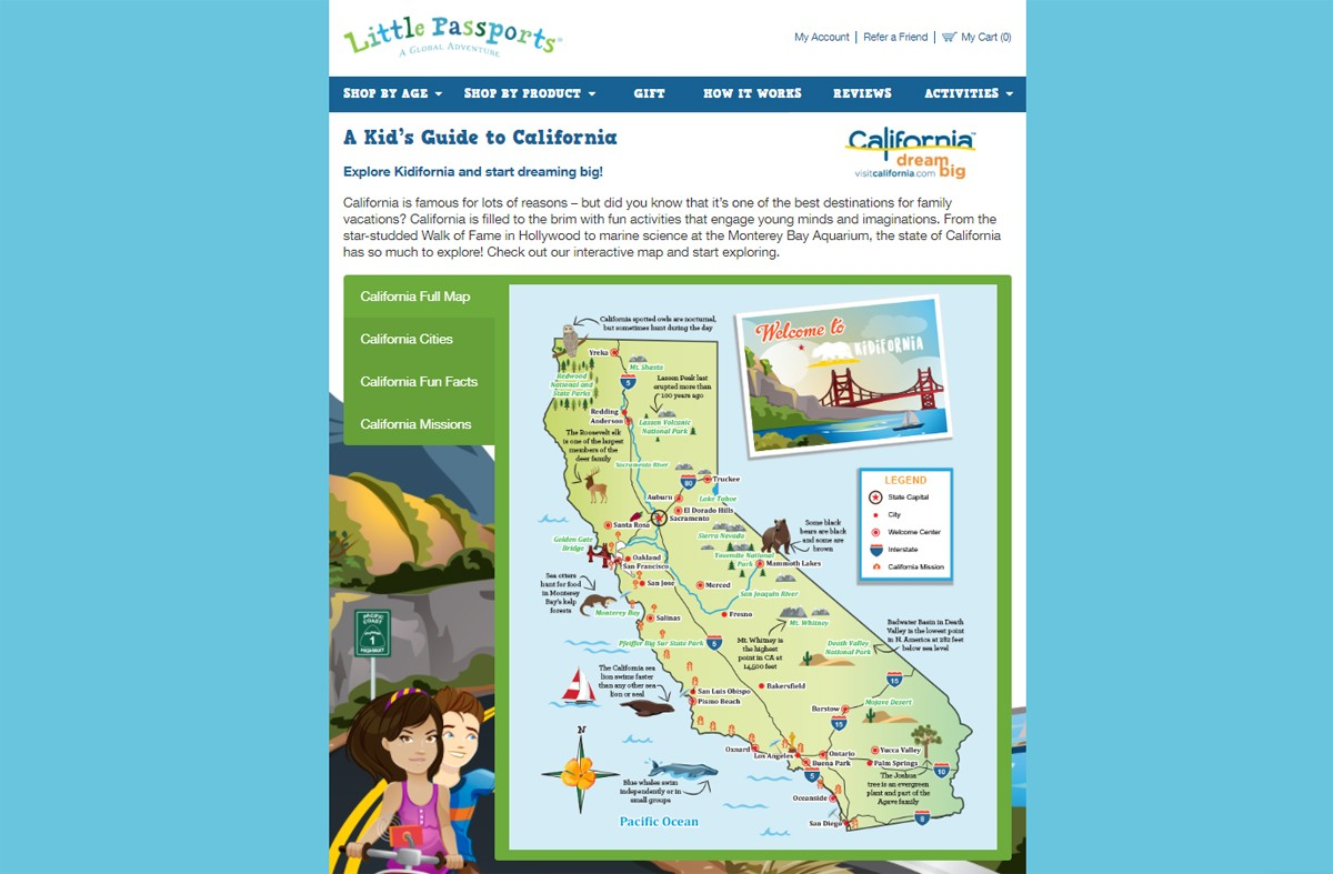 Visit California, Little Passports team up for family fun