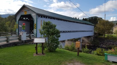 Covered Bridge in L'Anse St-Jean