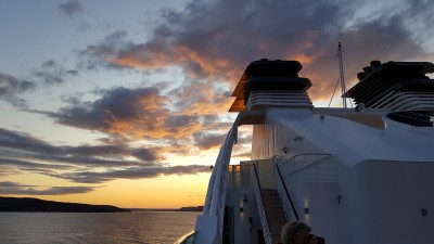 Sunset over the Saguenay