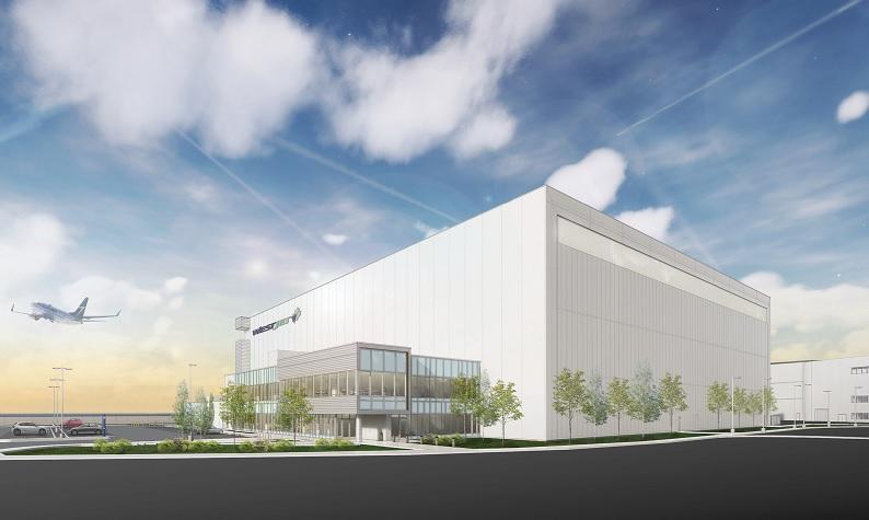 WestJet progressing on Calgary hangar project