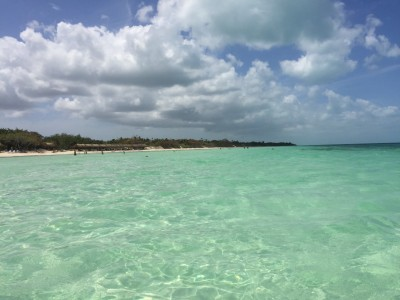 The gorgeous waters of Cayo Coco