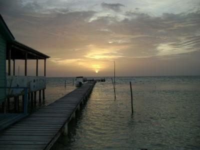 Belize at sunset