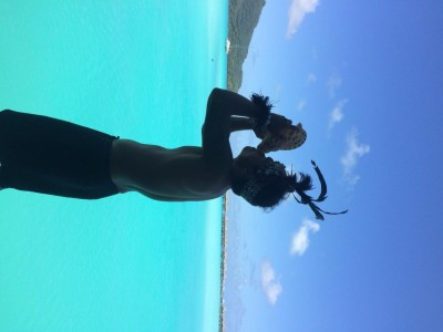 Tahitian Conch Welcome at the Intercontinental Thalasso in Bora Bora