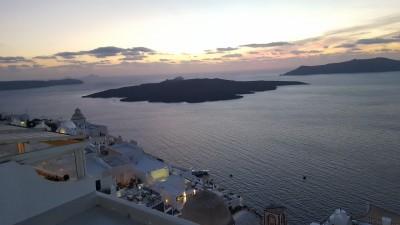 Romantic evening in Santorini