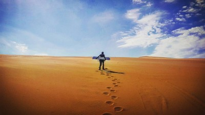 Sandboarding in Namibia