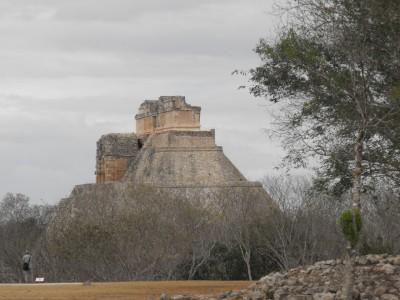 Pyramid at Uxmal, Yucatan, Mexico