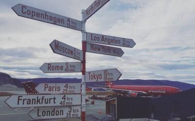Where to go? Airport in Kangerlussuaq, Greenland