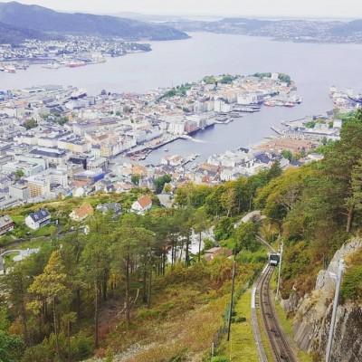 Top of Mt Floyen. Bergen, Norway