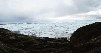 Icebergs at Sermermiut. Disko Bay, Greenland