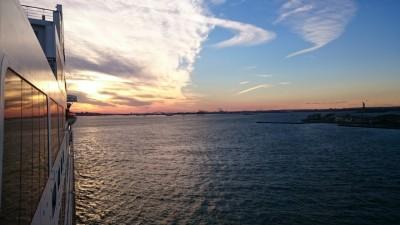 New York Cunard Cruise Sunset Delight