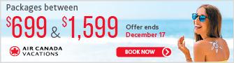 Air Canada Vacations - Bloc - Dec 11