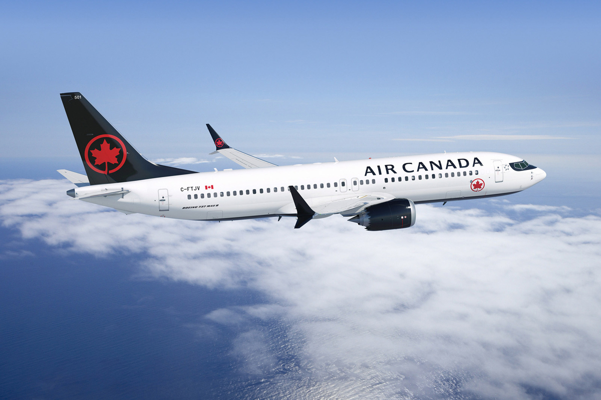 Air Canada welcomes first Boeing 737 MAX 8 to fleet