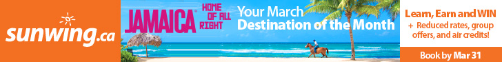 Sunwing Vacations - Leaderboard - March 16