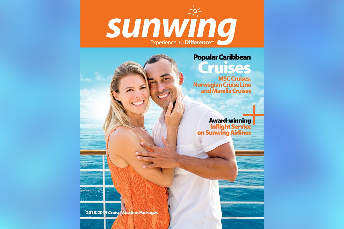 Sunwing's latest brochure features 3 cruise lines