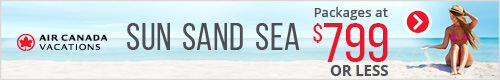 Air Canada Vacations - Footer Leaderboard (Tablet) -May 23 Sand