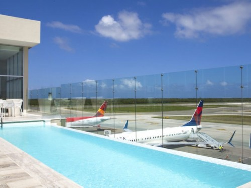 Punta Cana's VIP airport lounge just got a pool