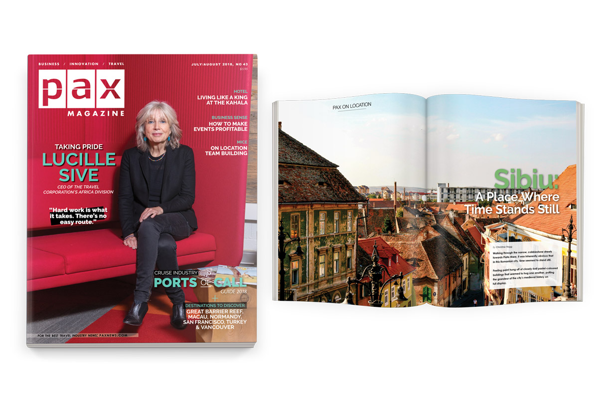We talk travel with the TTC's Lucille Sive in July's PAX magazine